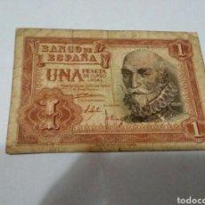 Billetes españoles: BILLETE DE UNA PESETA. Lote 180499265