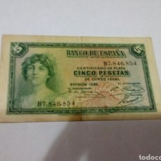 Billetes españoles: BILLETE DE 5 PESETAS. Lote 180499412