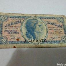Billetes españoles: BILLETE DE 50 CENTIMOS. Lote 180499602