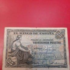 Billetes españoles: 1906 25 PESETAS 24 SEPTIEMBRE MADRID ESPAÑA SERIE A 3142748. Lote 181110296
