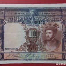 Billetes españoles: BILLETE DE 1000 PESETAS 1925 , REPUBLICA ESPAÑOLA - SIN SERIE - CALIDAD MBC+ ... L466. Lote 181118518