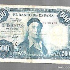 Billetes españoles: BILLETE. BANCO DE ESPAÑA. 500 PESETAS. MADRID 1954. IGNACIO ZULOAGA. EL DE LA FOTO. VER. Lote 181463552