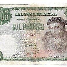 Billetes españoles: BILLETE. BANCO DE ESPAÑA. 1000 PESETAS. 1946. MADRID. EL DE LA FOTO. Lote 181464455