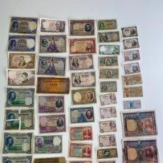 Billetes españoles: LOTE DE 48 BILLETES ESPAÑOLES , 50 CTMS , 1 PESETA , 2 PESETAS , 5 PESETAS , 10 PESETAS , ETC.. Lote 181627790