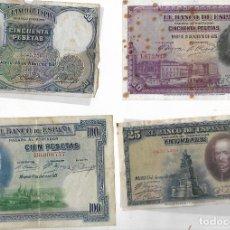 Billetes españoles: 4 BILLETES ANTIGUOS. Lote 181700980