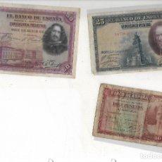 Billetes españoles: 6 BILLETES ANTIGUOS. Lote 181704927