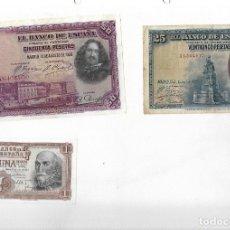 Billetes españoles: 6 BILLETES ANTIGUOS. Lote 181711905