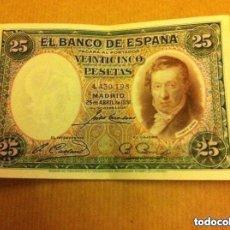 Billetes españoles: 25 PESETAS 1931 - EBC. Lote 181716717
