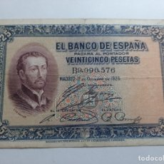 Billetes españoles: 25 PESETAS 1926 BC. Lote 181932440