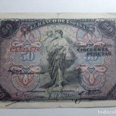 Billetes españoles: 50 PESETAS 1906 MBC VER FOTOS. Lote 181935222