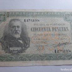 Billetes españoles: 50 PESETAS 1940 BC MUY ESCASO VER FOTOS. Lote 181935601