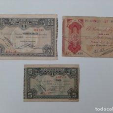 Billetes españoles: LOTE 3 BILLETES BILBAO VARIAS CONSERVACIONES VER FOTOS. Lote 182000595