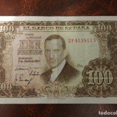 Billetes españoles: BILLETE 100 PESETAS DE 1953 , JULIO ROMERO DE TORRES, ESTADO MUY BUENO. Lote 182020603