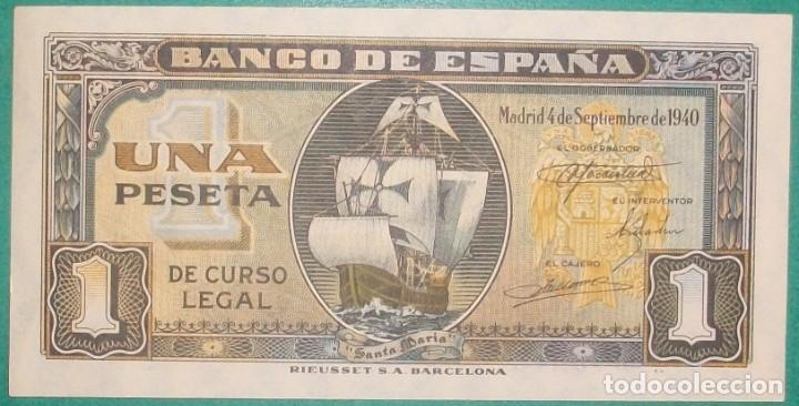 BANCO DE ESPAÑA. 1 PESETA. 4 SETIEMBRE 1940. CARABELA. SERIE I. SC- (Numismática - Notafilia - Billetes Españoles)