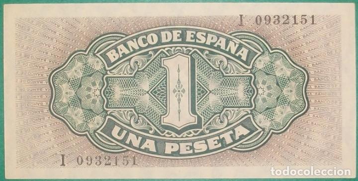 Billetes españoles: BANCO DE ESPAÑA. 1 Peseta. 4 Setiembre 1940. Carabela. Serie I. SC- - Foto 2 - 182379362