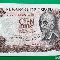 Billetes españoles: BILLETE 100 PESETAS, MNUEL DE FALLA, 1970. Lote 182710900