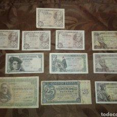 Billetes españoles: LOTE DE 11 BILLETES ANTIGUOS ESPAÑOLES. Lote 182759992