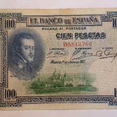 Billetes españoles: BILLETE DE 100 PESETAS DE 1925 SERIE B. Lote 182809337