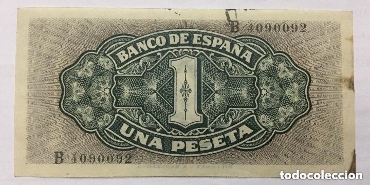 Billetes españoles: BILLETE 1 PESETA MADRID SEPTIEMBRE 1940 - SERIE B - ORIGINAL - PLANCHA - Foto 2 - 182851070