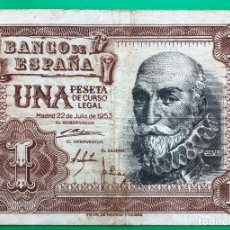 Billetes españoles: BILLETE 1 PESETA, 1953. Lote 182903923