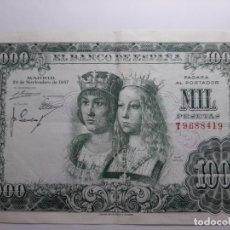 Billetes españoles: 1000 PESETAS 1957 MBC EL DE LA FOTO. Lote 183189957