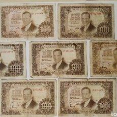 Billetes españoles: LOTE 7 BILLETES 100 PESETAS. Lote 183345533
