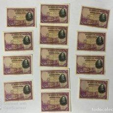 Billetes españoles: ESPAÑA. LOTE DE 13 BILLETES. MADRID, 1928. BANCO DE ESPAÑA.. Lote 183360710