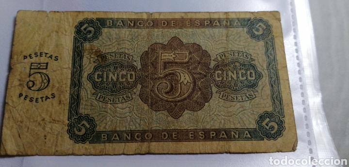 Billetes españoles: 5 PESETAS DE BURGOS 10 DE AGOSTO DE 1938 - Foto 2 - 183406942
