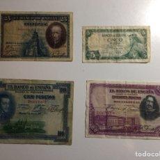 Billetes españoles: LOTE DE 9 BILLETES ESPAÑA. Lote 183592378