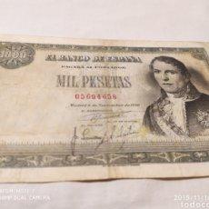 Billetes españoles: 1000 PESETAS, 4 NOVIEMBRE DE 1949, VER. Lote 183629655