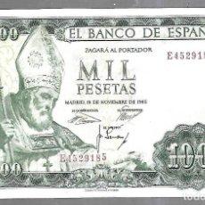 Billetes españoles: BILLETE. EL BANCO DE ESPAÑA. 1000 PESETAS. 1965. SAN ISIDORO. VER. Lote 183796550