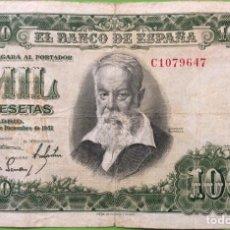 Billetes españoles: BILLETE 1000 PESETAS 1951 - JOAQUIN SOROLLA. EBC. SERIE C. Lote 183777395
