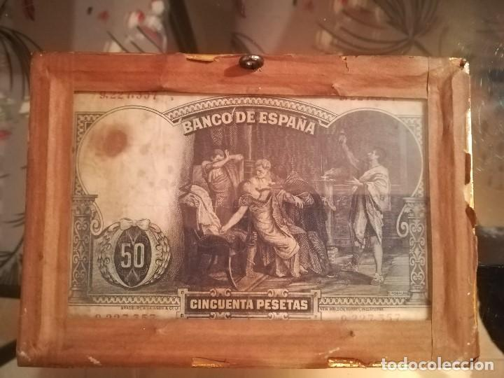 Billetes españoles: BILLETE 50 PTS ABRIL 1931. ENMARCADO CON DOBLE CRISTAL - Foto 2 - 184010488
