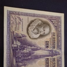 Billetes españoles: BILLETE 100 PESETAS 1928 CERVANTES. Lote 184250672