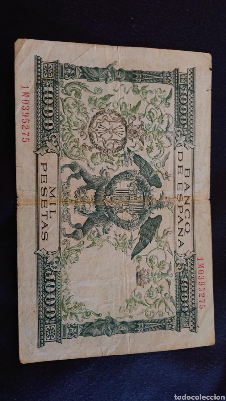 Billetes españoles: Billete Mil Pesetas 1957 Reyes Católicos - Foto 2 - 184254351
