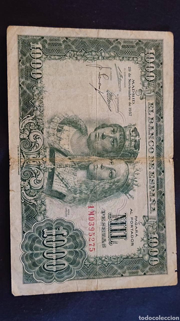 BILLETE MIL PESETAS 1957 REYES CATÓLICOS (Numismática - Notafilia - Billetes Españoles)