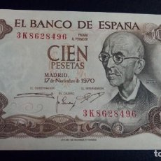 Banconote spagnole: 100 PESETAS 1970 (SERIE 3K) SC-. Lote 184356503