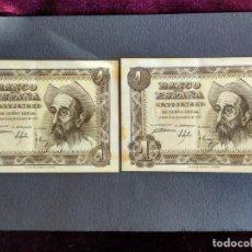 Billetes españoles: 1 PESETA PTA 1951 2 BILLETES CORRELATIVOS SERIE G. Lote 184359802