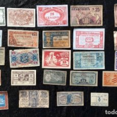 Billetes españoles: LOTE BILLETES EMISIONES MUNICIPALES GUERRA CIVIL - BILLETE LOCAL . Lote 184557066