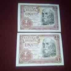 Notas espanholas: PESETA DE 1953 SC. PAREJA DE 2 BILLETES CORRELATIVOS. Lote 184571481