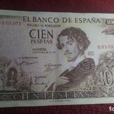 Billetes españoles: 100 PESETAS 1965 (SERIE B) EBC-. Lote 184636193