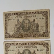 Billetes españoles: BILLETES 100 PESETAS 9 SEPTIEMBRE 1940. Lote 184711452