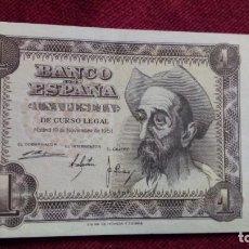 Billetes españoles: 1 PESETA 1951 (SIN SERIE ) EBC. Lote 184769728