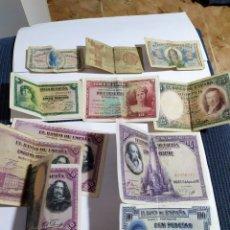 Billetes españoles: LOTE 12 BILLETES DE LA REPUBLICA ORIGINALES. Lote 184870927