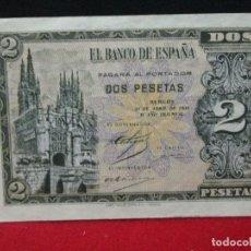 Billetes españoles: 2 PESETAS 30 ABRIL 1938 SIN CIRCULAR. Lote 184917272