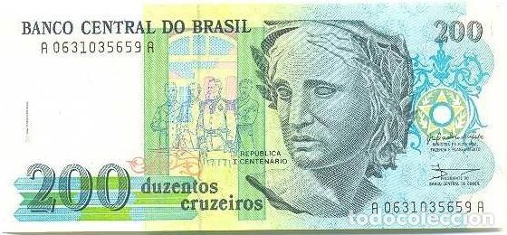 BRASIL - BRAZIL 200 CRUZEIROS 1990 PK 229 FIRMAS CARDOSO DE MELLO-ÉRIS UNC (Numismática - Notafilia - Billetes Españoles)