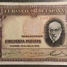 Billetes españoles: BILLETE DE 50 PESETAS 1935 RAMON Y CAJAL . Lote 186164478