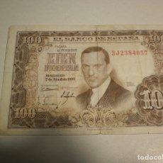 Billetes españoles: BILLETE 100 PESETAS 7 ABRIL 1953 JULIO ROMERO DE TORRES (EN ESTADO NORMAL). Lote 209875726