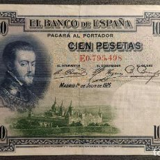 Billetes españoles: BILLETE 100 PESETAS 1925. Lote 186169428