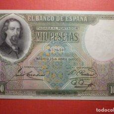 Billetes españoles: BILLETE 1000 PESETAS - MIL - 25 DE ABRIL DE 1931 - SIN SERIE - JOSÉ ZORRILLA - SC-. Lote 277848108